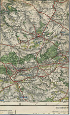 Chemnitz-Siegmar Limbach Oberfrohna 1929 Teilkarte/Ln Hohenstein Burgstädt Grüna