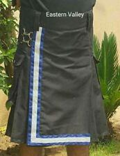 Men Police Scottish Utility Kilt Adult Handmade Reflector Kilt