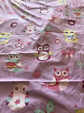 Girls Owl & Butterfly Reversible Single Duvet Cover And Pillowcase