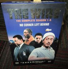 THE WIRE: THE COMPLETE SEASON 1-5 24-DISC DVD BOX SET, NO CORNER LEFT BEHIND,GUC