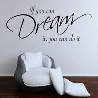 Removable PVC Home Room Decor Art Quote Wall Decal Stickers Bedroom Mural DIY