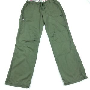 Koi By Kathy Peterson Women's Scrub Cargo Pants Size Large Tall Army Green 7011