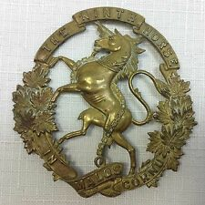 Large Canadian Militia Badge For The Ninth Mississauga Horse