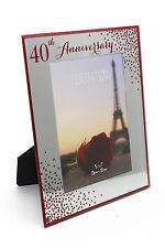 40th Ruby Anniversario Di Matrimonio PHOTO FRAME NUOVO IN SCATOLA WG83340