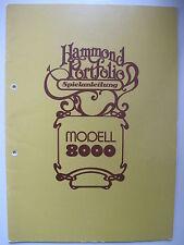 Hammond Portfolio Modell 8000 Spielanleitung deutsch