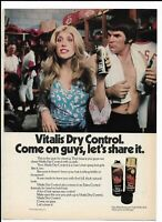 PETE ROSE Gut Vintage 1973 Print Ad ~ Vitalis Dry Control ~ Reds