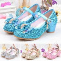 Children Kids Girls Pearl Crystal Bling Bowknot Single Princess Shoes Sandals