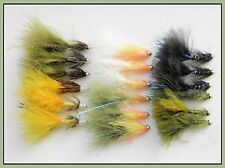 Damsel Trout Flies, 18 Pack Mixed Varieties inc, Flash, Size 10 For Fly Fishing