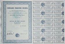 Action - Compagnie Financière MOCUPIA, action de 100 Frs N° 008228