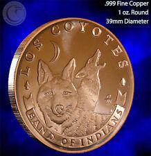 """""""Los Coyotes"""" 1 oz .999 Copper Round"""