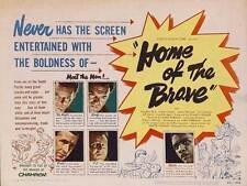 HOME OF THE BRAVE Movie POSTER 22x28 Half Sheet Lloyd Bridges Steve Brodie Cliff