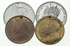 1911 Great Britain King George V & Queen Mary Coronation Medallion Lot of 4