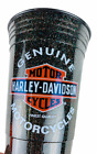 Harley Davidson Cold Beer Cup Black Orange 16oz Tumbler Man Cave Barware Gift