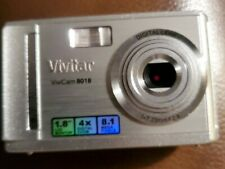 Vivitar ViviCam 8018 8.1MP Digital Camera - Silver with Case Used No Scratches