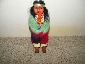 "Vintage Skookum Indian Doll 7"" Doll Native American Girl"