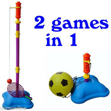 Kids Tennis Ball and Soccer Football Set 2 in 1 Sport T