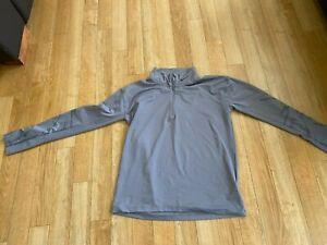 Nike ladies 1/4 zip top in grey size small