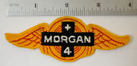 Morgan + 4 Embroidered Sew On Cloth Jacket Patch Car Auto Hot Rat Rod Vtg