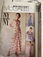 McCall's NY Collection Misses' Dress and Slip Pattern 9263 Size 12-16 Uncut