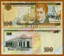 Honduras, 100 Lempiras, 2014, P-102b, UNC > Braille, New Sig.