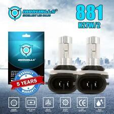 2x 881 H27W/2 LED Fog Light XENON Bulb Blue For Hyundai Ford Cadillac Kia Nissan