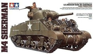 Tamiya 35190 1/35 Scale Model Kit WWII U.S Medium Tank M4 Sherman Early Prod.