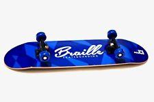 "Braille Skate Handboard Handskate / Aaron Kyro Blue Braille Hand Board 11"" Deck"