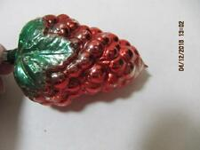 Vintage Mercury Glass Embossed Bumpy Stawberry Christmas Ornament Germany