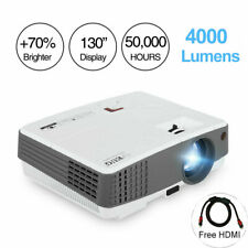 EUG Mini LED Projector HD 1080P Portable Movie Home Theater HDMI USB Game 4000lm