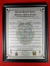 Mc-Nice: Army Military Police Mp Creed All Units Framed Personalized