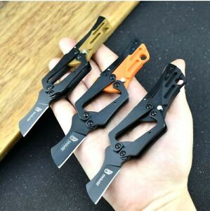 Wharncliffe Mechanical Folding Knife Pocket Hunting Survival Tactical G10 Handle