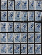 K76* Lot Timbres Oblitérés n°1521 1967 (EUROPA) x30 pour étude