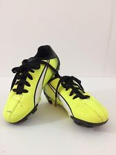 9f1fbd30273 Puma Soccer Cleets Boys Girls Shoes Size 11 Youth Yellow Black Laceups