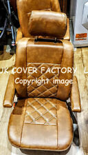 VAN SEAT COVERS VW CRAFTER MERCEDES SPRINTER TWO SINGLE WOODLAND BROWN BENTLEY