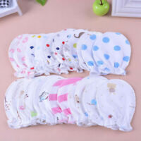 6PCS Baby Infant Anti-scratch Cotton Mittens Gloves Handguard 0-6 Months Newborn