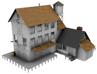 PLANS ONLY - Ezra's Feed & Seed S Scale (1:64) Building Plans Model Railroad