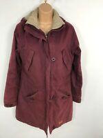 WOMENS TRESPASS MAROON RED ZIP UP WATERPROOF CASUAL COAT JACKET WITH HOOD  XS