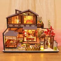 3D Wooden Dollhouse Ancient Town DIY Miniature Model Christmas Gifts Toys