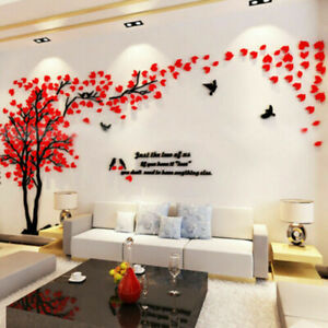 Large Tree Wall Decals 3D DIY Acrylic Wall Stickers Mural Home Painting Decor