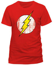 Official DC Comics THE FLASH Distressed Logo Unisex T-Shirt Tee sizes S-XXL NEW