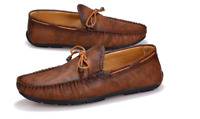 Mens Tassels Loafers Driving Shoes Slip On Moccasin Gommino Business Boat