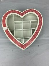 Vintage Heart shaped Curio Cabinet