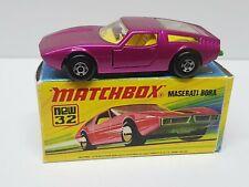 Vintage Matchbox Lesney Superfast No 32 MASERATI BORA
