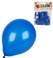 12 GROSSE BLAUE LUFTBALLNOS LUFT GAS BALLON BUNT FARBIG 23cm STABIL PARTY BLAU !