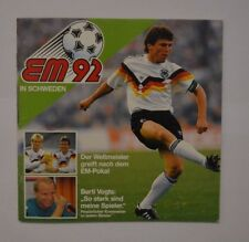 Duplo Hanuta Ferrero EM 1992 Schweden Sammelalbum komplett mit allen 22 Stickern