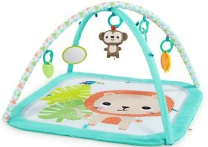 Safari Blast Activity Gym and Play Mat with Take-Along Toys, Ages Newborn +