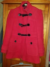 Ladies Red Duffle Style Coat Size 12