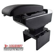Armrest Heightening Center Sliding For Universal Most Car Cup Holder Box USB