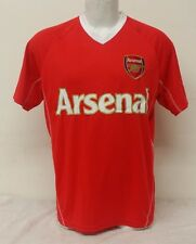 Arsenal Team Colors (Red, White) Men's Short Sleeve Jersey Size Small