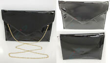 NWT Dreams Patent Leather Envelope Clutch Purse Evening Handbag Cross Body Strap